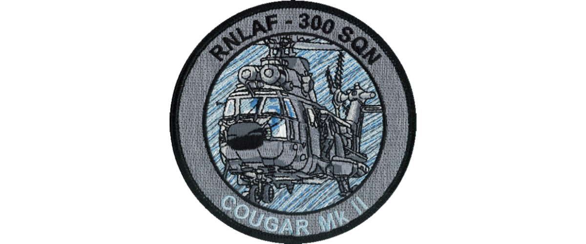 Patch 300 Squadron Cougar MK-II Zilver/Grijs
